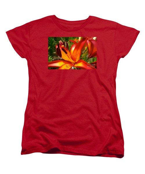 Royal Sunset Lily Women's T-Shirt (Standard Cut) by Jacqueline Athmann