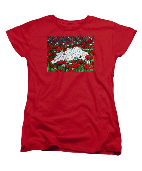 Rubies And Pearls Women's T-Shirt (Standard Cut) by Jackie Carpenter
