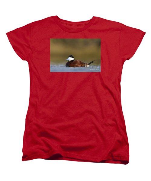 Women's T-Shirt (Standard Cut) featuring the photograph Ruddy Duck  by Bryan Keil
