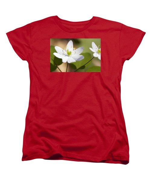 Rue Anemone Women's T-Shirt (Standard Cut) by Melinda Fawver