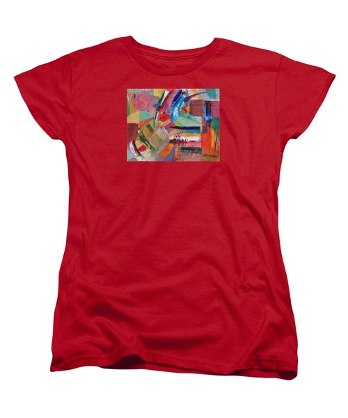 Women's T-Shirt (Standard Cut) featuring the painting Rugged Strokes by Jason Williamson