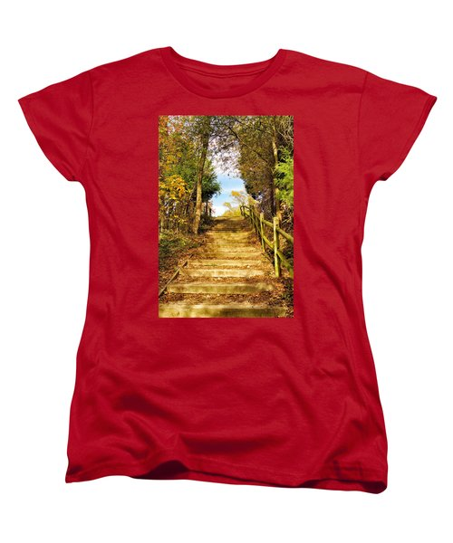 Rustic Stairway Women's T-Shirt (Standard Cut)
