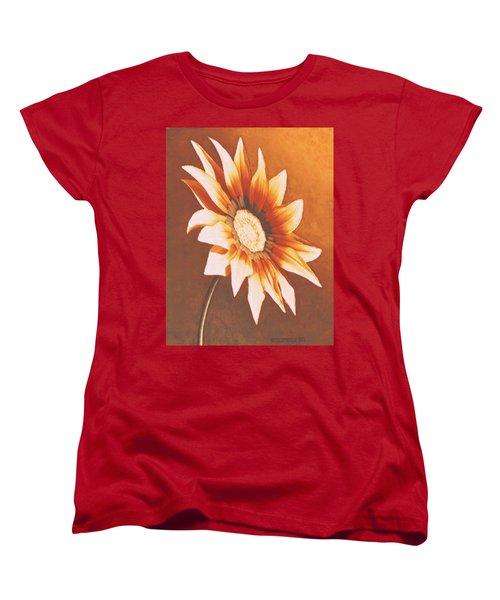 Women's T-Shirt (Standard Cut) featuring the painting Rusty Gazania by Sophia Schmierer