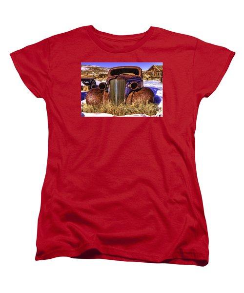 Women's T-Shirt (Standard Cut) featuring the painting Rusty by Muhie Kanawati