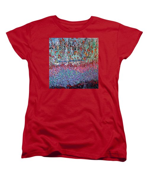 Sailing Among The Flowers Women's T-Shirt (Standard Cut) by George Riney