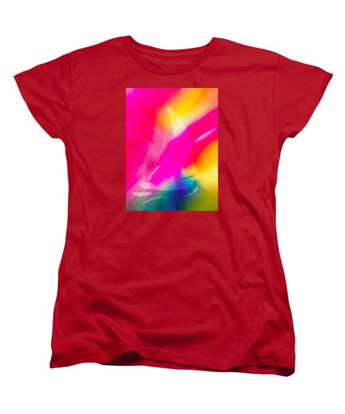 Women's T-Shirt (Standard Cut) featuring the digital art Sailing The Cosmos by Frank Bright