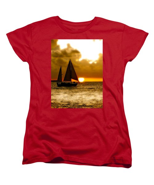 Women's T-Shirt (Standard Cut) featuring the photograph Sailing The Keys by Iconic Images Art Gallery David Pucciarelli