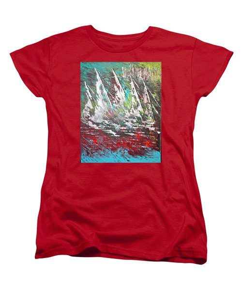 Sailing Together - Sold Women's T-Shirt (Standard Cut) by George Riney