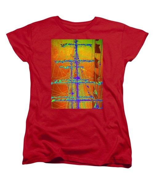 New Orleans Saint Elmo Fire Women's T-Shirt (Standard Cut) by Michael Hoard