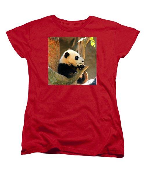 San Diego Zoo Panda Bear Xiao Liwu Women's T-Shirt (Standard Cut)