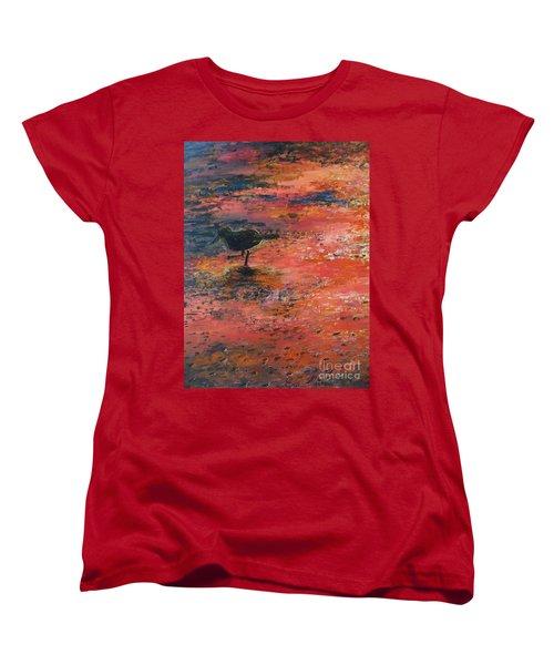 Sandpiper Cape May Women's T-Shirt (Standard Cut) by Eric  Schiabor