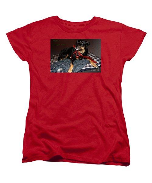 Women's T-Shirt (Standard Cut) featuring the photograph Santa? by Cassandra Buckley