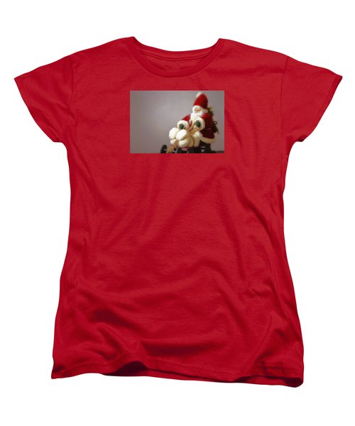 Women's T-Shirt (Standard Cut) featuring the photograph Santa Takes His Sled by Nadalyn Larsen