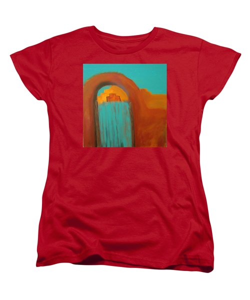 Women's T-Shirt (Standard Cut) featuring the painting Sante Fe by Keith Thue