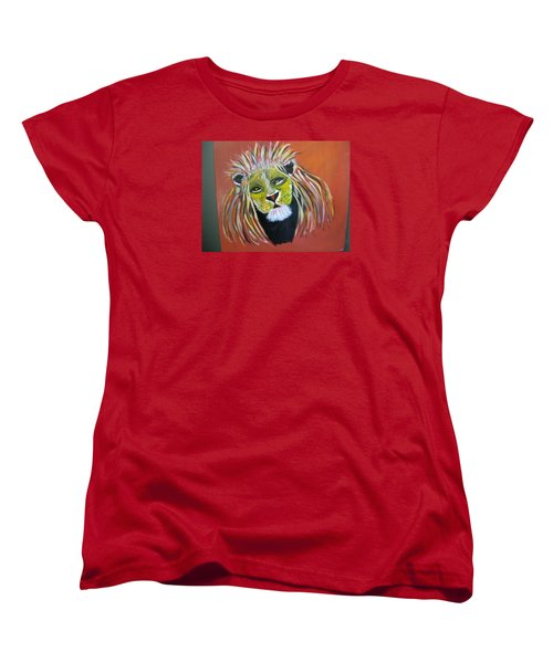 Women's T-Shirt (Standard Cut) featuring the painting Savannah Lord by Sharyn Winters