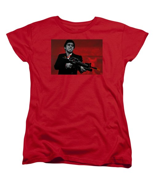 Say Hello To My Little Friend  Women's T-Shirt (Standard Cut) by Luis Ludzska
