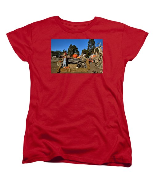 Women's T-Shirt (Standard Cut) featuring the photograph Scare Crow by Michael Gordon