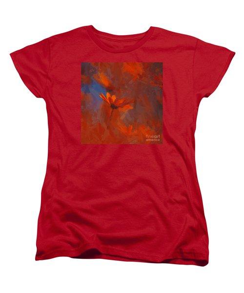 Scarlet Petals  Women's T-Shirt (Standard Cut) by Paul Davenport