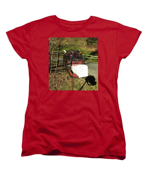 Women's T-Shirt (Standard Cut) featuring the photograph Scary Mailbox 2 by Sherman Perry