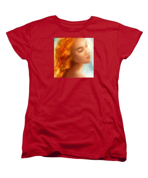 Women's T-Shirt (Standard Cut) featuring the painting Sea Nymph Dream by Michael Rock