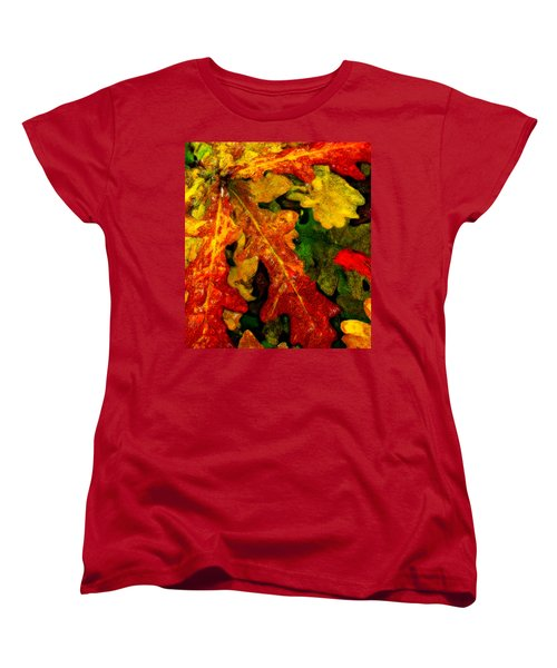 Women's T-Shirt (Standard Cut) featuring the digital art Season's End by Chuck Mountain