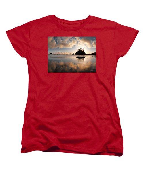 Second Beach Women's T-Shirt (Standard Cut) by Leland D Howard