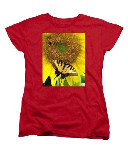 Secret Lives Of Sunflowers Women's T-Shirt (Standard Cut)