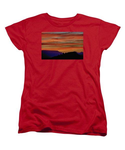Sedona Az Sunset 2 Women's T-Shirt (Standard Cut) by Ron White