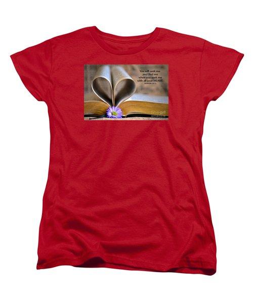 Seeking Women's T-Shirt (Standard Cut) by Deb Halloran