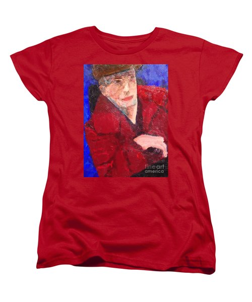 Women's T-Shirt (Standard Cut) featuring the painting Self-portrait by Donald J Ryker III