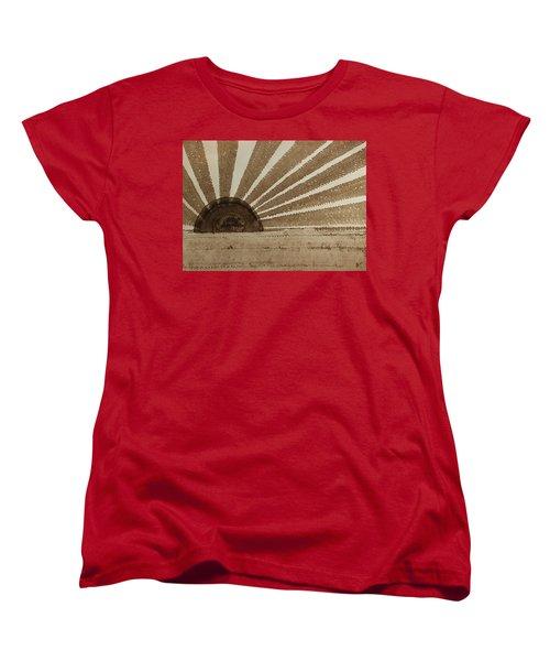 Sepia Sunset Original Painting Women's T-Shirt (Standard Cut) by Sol Luckman