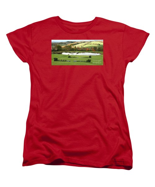 Women's T-Shirt (Standard Cut) featuring the photograph Serenity Hill by Carol Lynn Coronios