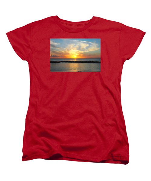 Women's T-Shirt (Standard Cut) featuring the photograph Seven Mile Sunset Over Grand Cayman by Amy McDaniel
