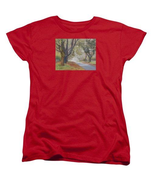 Shadow And Fog Down Beautiful Atlantic Avenue Women's T-Shirt (Standard Cut) by Barbara Barber
