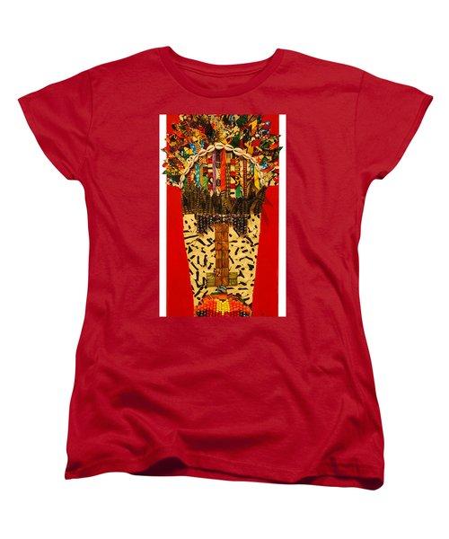 Women's T-Shirt (Standard Cut) featuring the tapestry - textile Shaka Zulu by Apanaki Temitayo M