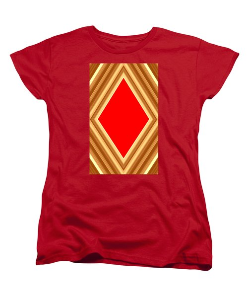 Women's T-Shirt (Standard Cut) featuring the digital art She Said Love Was Red  by Cletis Stump