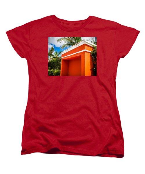 Shelter Orange Women's T-Shirt (Standard Cut) by Melinda Ledsome