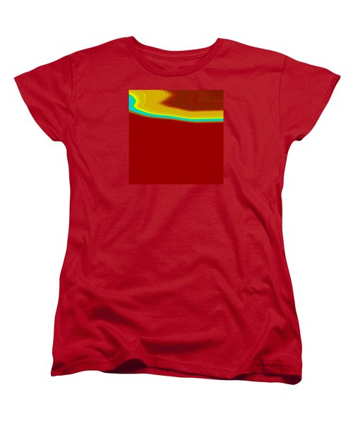 Women's T-Shirt (Standard Cut) featuring the painting Shoreline IIi  C2014 by Paul Ashby