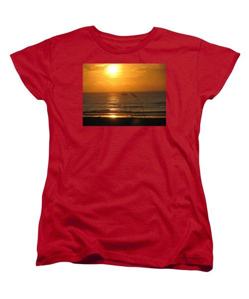 Shrimp Boat Sunrise Women's T-Shirt (Standard Cut)