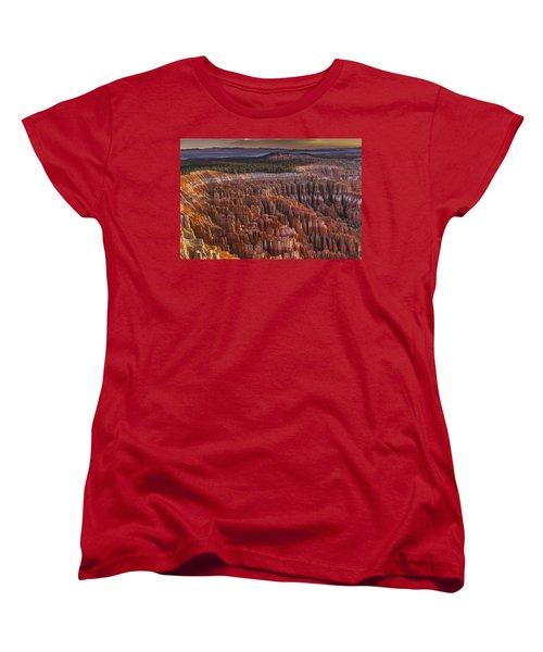 Silent City - Bryce Canyon Women's T-Shirt (Standard Cut) by Eduard Moldoveanu