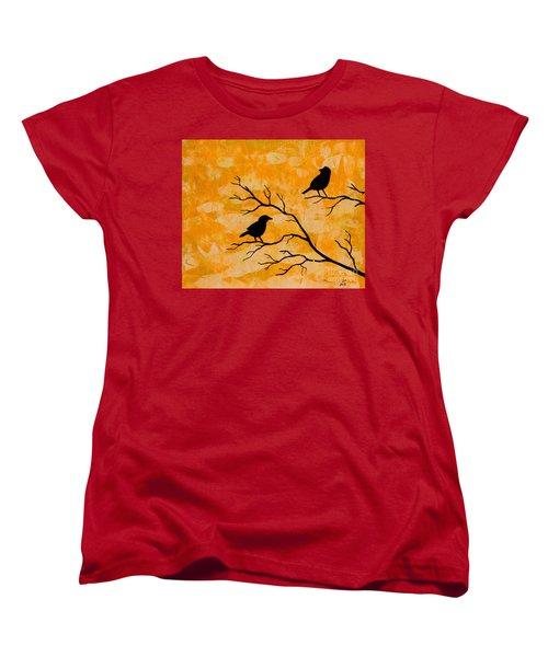 Silhouette Orange Women's T-Shirt (Standard Cut) by Stefanie Forck