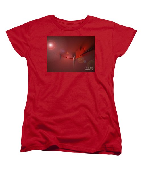Simply Red Women's T-Shirt (Standard Cut) by Jacqueline Lloyd