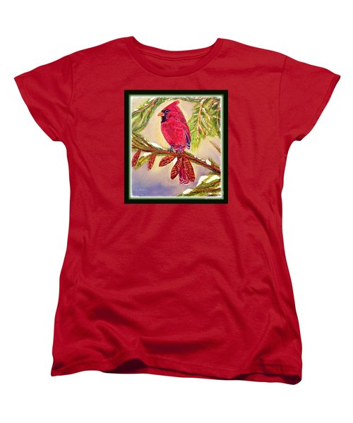 Women's T-Shirt (Standard Cut) featuring the painting Singing The Good News With Border by Kimberlee Baxter