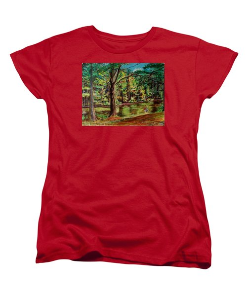 Sisters At Wason Pond Women's T-Shirt (Standard Cut) by Sean Connolly