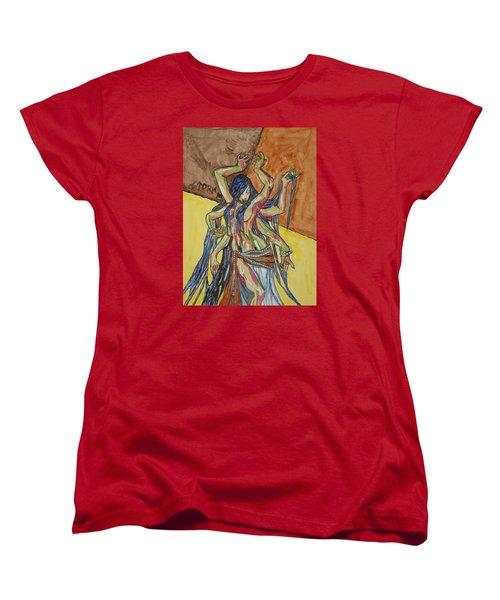 Six Armed Goddess Women's T-Shirt (Standard Cut) by Stormm Bradshaw
