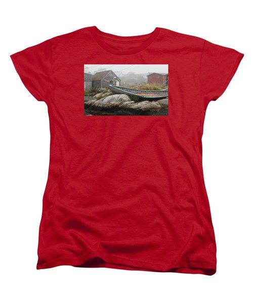 Women's T-Shirt (Standard Cut) featuring the photograph Skeleton Ashore by Jennifer Wheatley Wolf