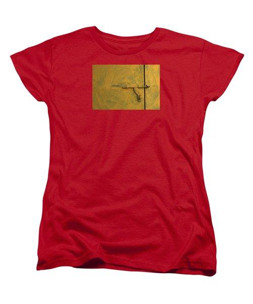 Women's T-Shirt (Standard Cut) featuring the photograph Skc 0047 The Door Latch by Sunil Kapadia