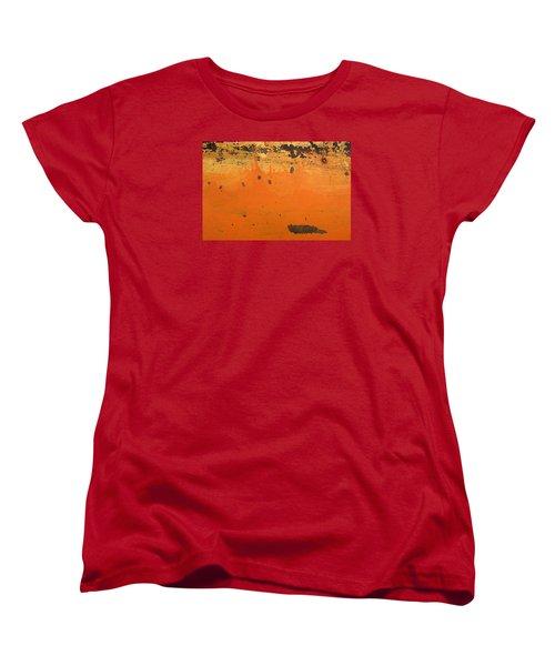 Women's T-Shirt (Standard Cut) featuring the photograph Skc 1505 Peeled Paint by Sunil Kapadia