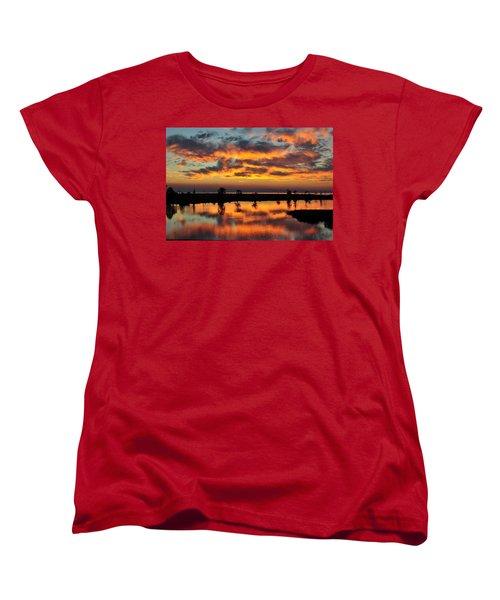 Sky Writing Women's T-Shirt (Standard Cut) by Charlotte Schafer