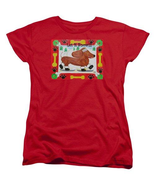 Snow Dog Women's T-Shirt (Standard Cut)